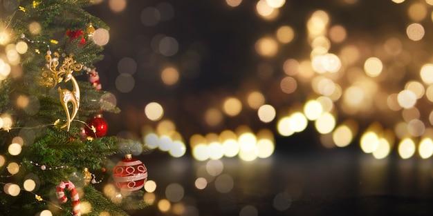 크리스마스와 새 해 휴일 배경입니다.