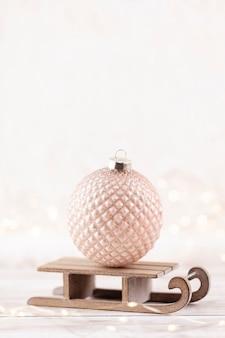 Рождественские и новогодние уютные украшения, фон боке.