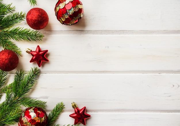 クリスマスの背景に装飾、モミの木の枝