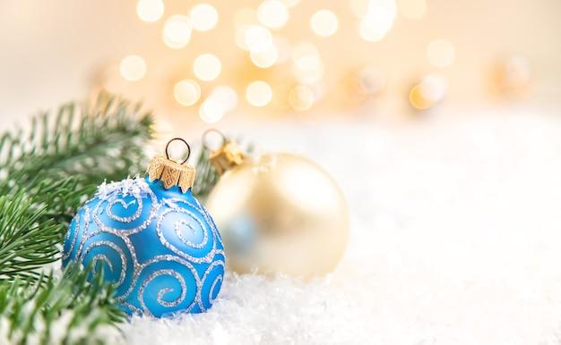 크리스마스 배경과 아름다운 장식