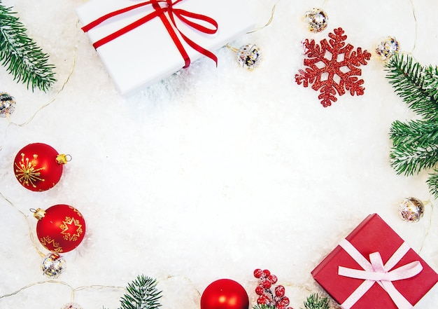 Рождественский фон и красивый декор