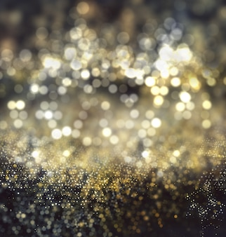 Christmas background of bokeh lights and glitter