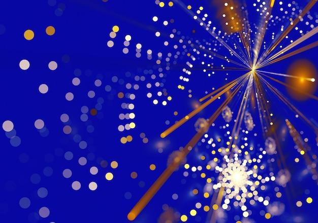 Christmas background, fractal christmas lights, christmas card