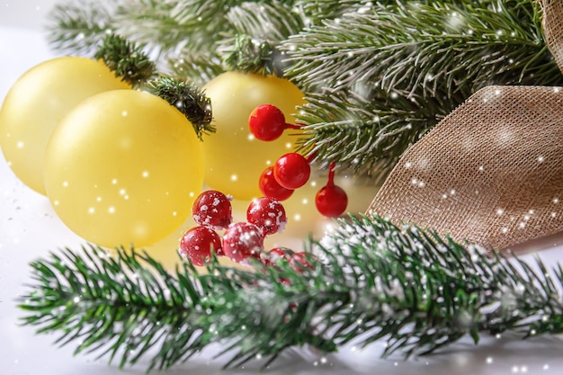 Christmas background. happy new year. selective focus holiday