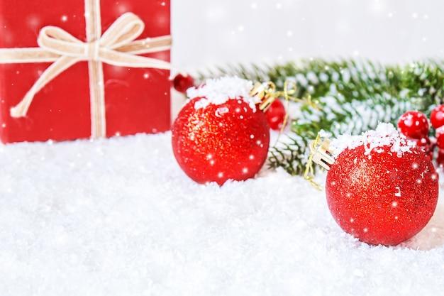 クリスマスの背景。明けましておめでとうございます。セレクティブフォーカス