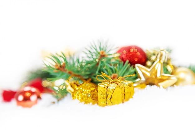 Рождественский фон с новым годом. выборочный фокус