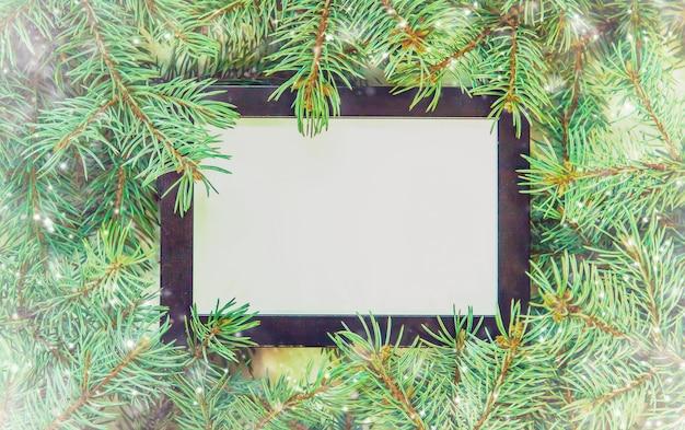 クリスマスの背景明けましておめでとうございます。セレクティブフォーカス