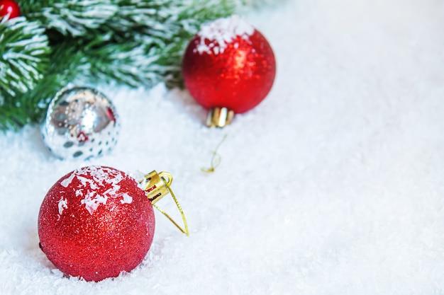 Christmas background. happy new year. selective focusholidays