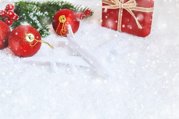 クリスマスの背景。明けましておめでとうございます。選択的なフォーカスホリデー