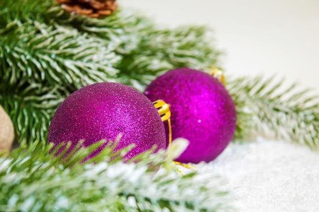 クリスマスの背景。幸せな新年の選択的なfocusholidays