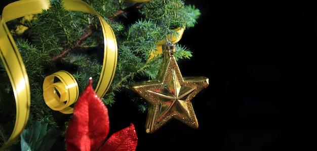 Christmas background isolated on black background