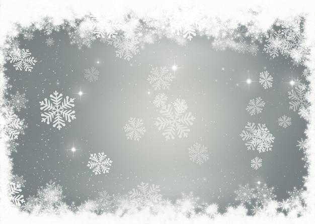 装飾雪片のクリスマスの背景