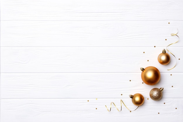Christmas background in the style of minimalism top view with place for text