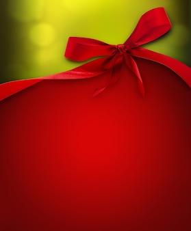 Новогодний фон с красным бантом