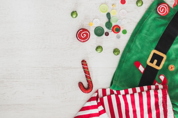 Christmas background with bag