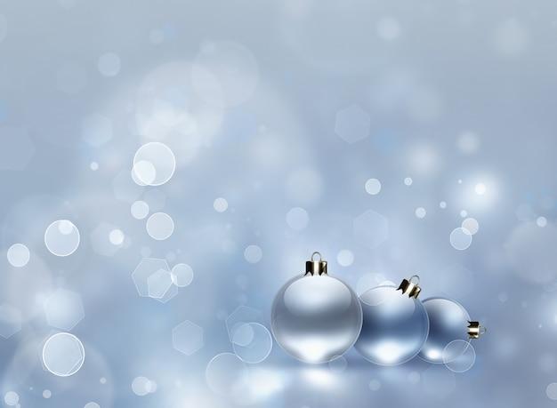 Новогодний фон с декором безделушки