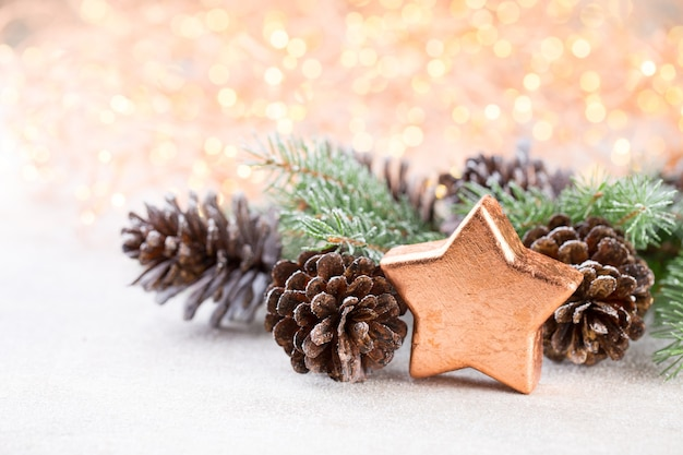 Рождественский фон с рождественской звездой