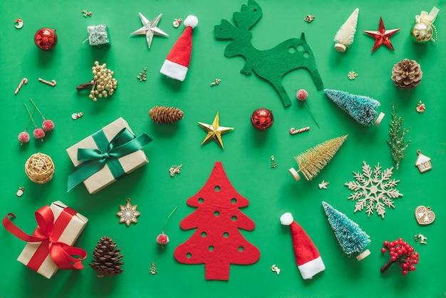 装飾が施されたクリスマスの背景