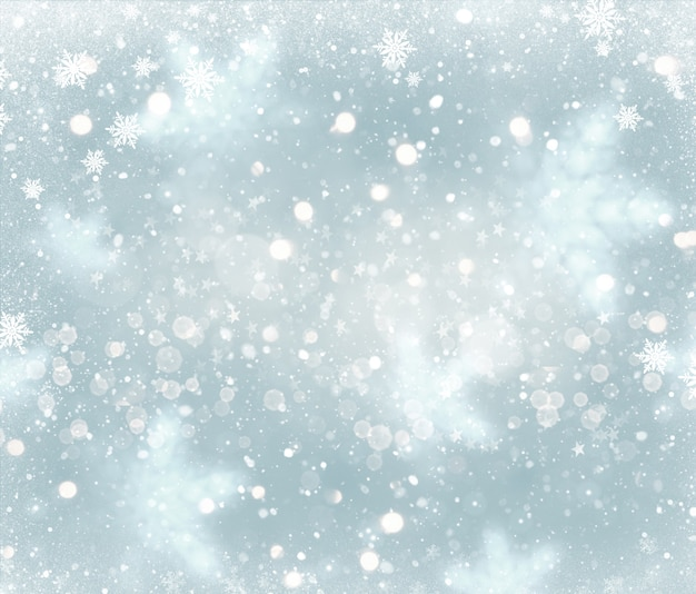 Christmas background with falling snowflakes design