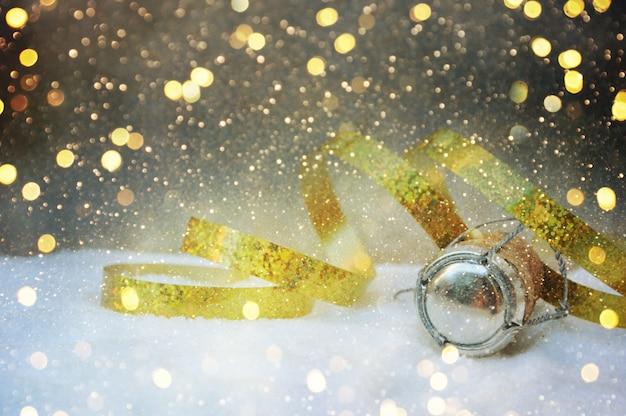 お祝いの装飾とクリスマスの背景