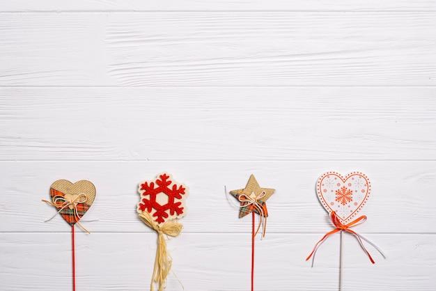 Рождественский фон с четырьмя палочками