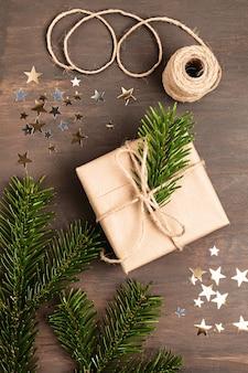 선물 포장 크리스마스 배경