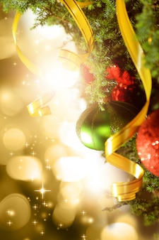 Christmas background with glow