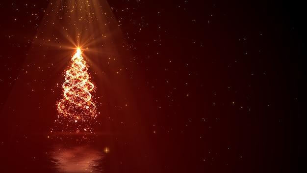 Новогодний фон с волшебным деревом огней с пространством для вашего текста.