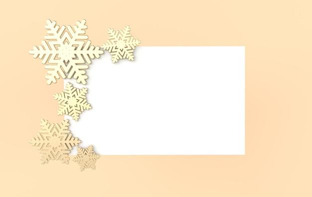 Новогодний фон с блестящими золотыми снежинками