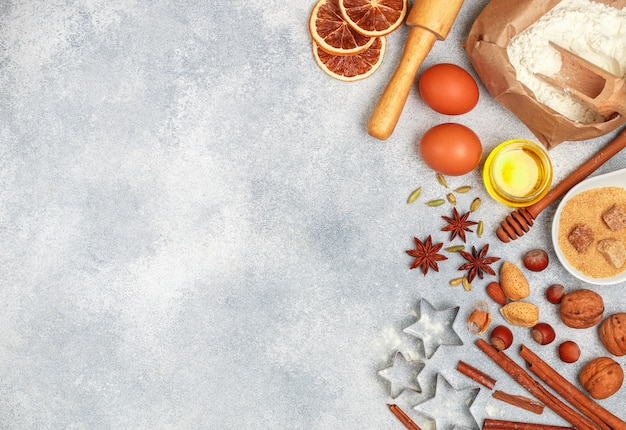 Рождественский фон выпечки