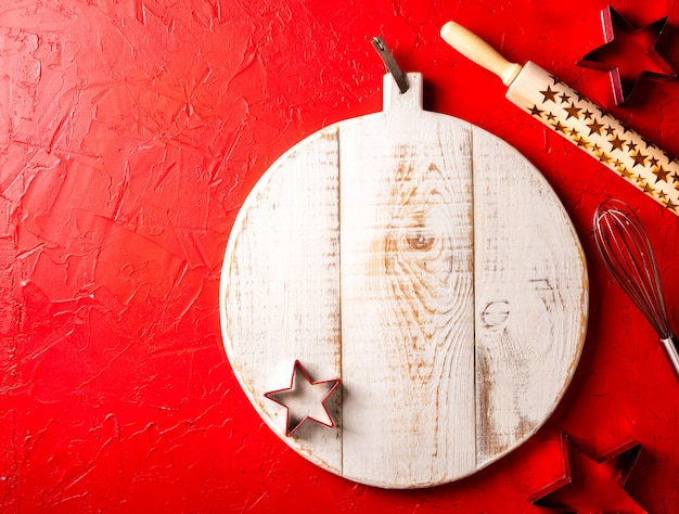 Christmas baking background.