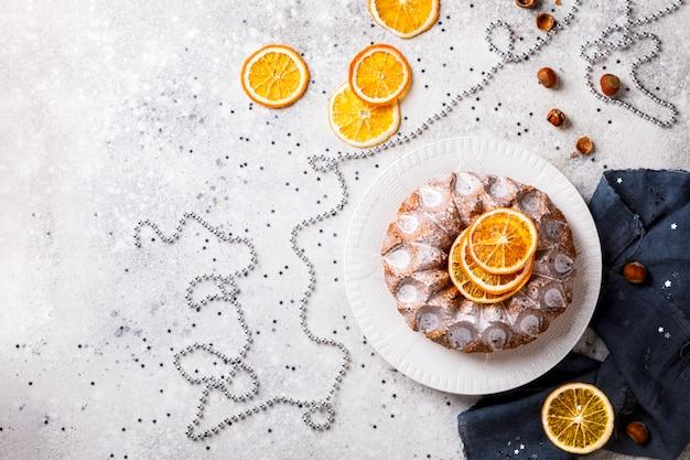 Christmas baking. holiday cake