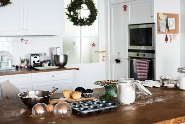 Рождественская выпечка на кухне