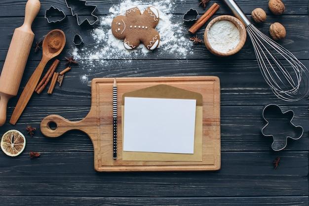 Christmas baking sweet food frame.