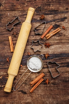 Christmas baking tools for baking cookies