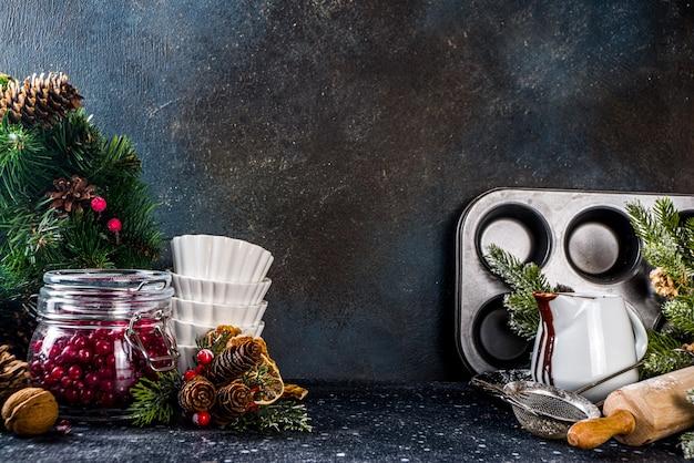 Инструменты для рождественской выпечки