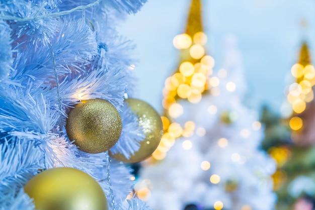 Christmas ball decoration on christmas tree
