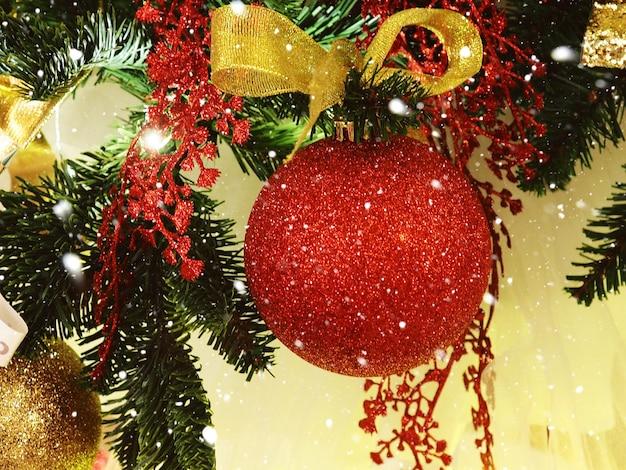 Christmas ball on fir branches