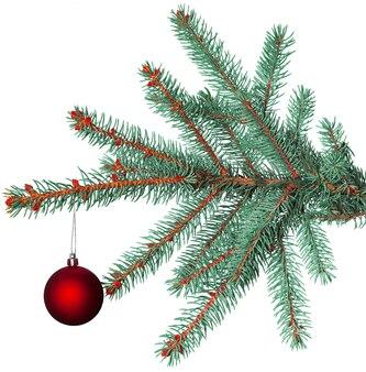Рождественский бал на еловой ветке