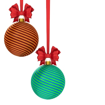 Christmas ball on white background. isolated 3d illustration