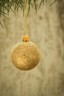 Christmas ball with ornaments