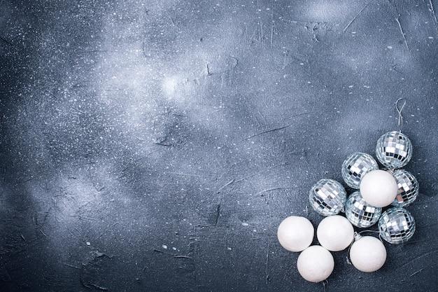 Christmas balls on a black background