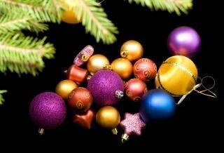 Christmas balls, christmas-tree