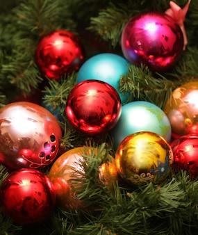 Рождественские шары крупным планом картина