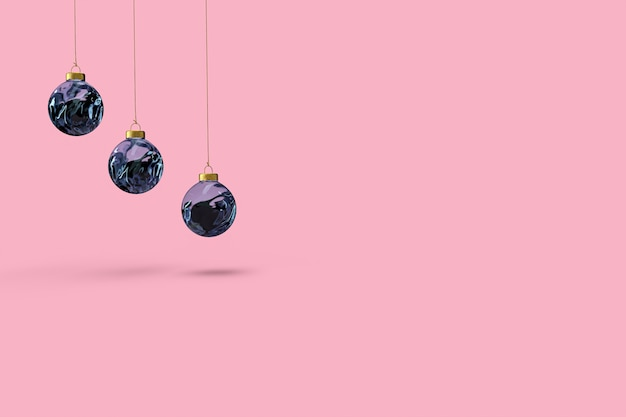 Christmas balls minimalist wallpaper . Premium Photo
