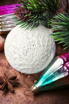 Christmas baubles glass