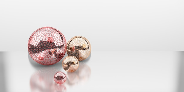 Christmas baubles new year decoration ball 3d illustration