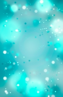 Christmas blue background with bokeh. new year abstract glitter defocused background.