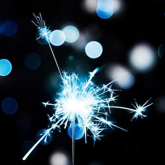 Christmas blue sparkler
