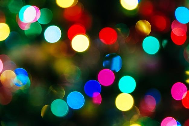 Christmas bokeh background illuminated